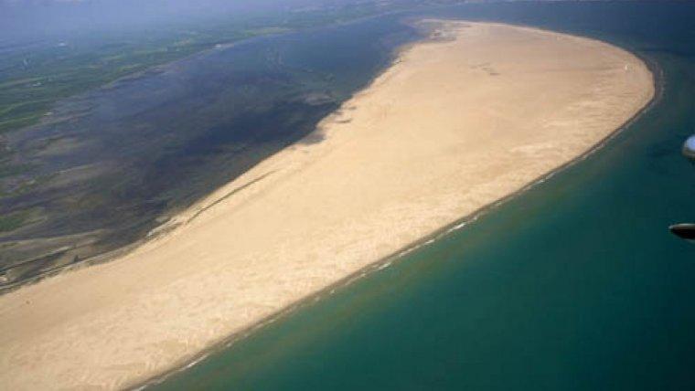 Platja de la Marquesa, també al Delta de l'Ebre.