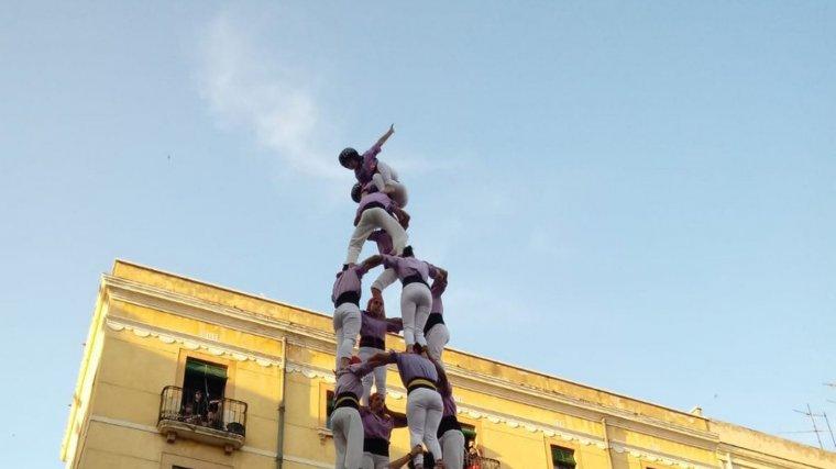 Primer 4de9 amb folre de la Jove de Tarragona a la diada de Sant Joan