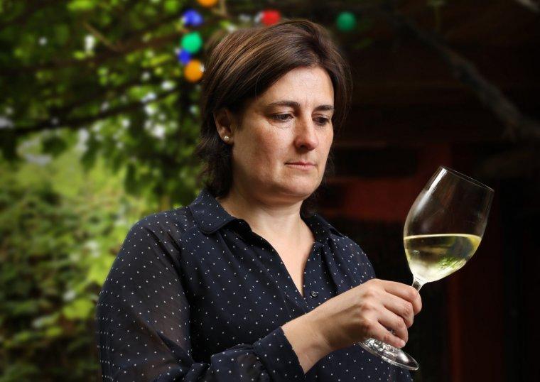 Raquel Pérez a la terrassa de la pizzeria Torre Rossa, a Cardedeu