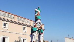 4de8 dels Castellers de Sant Pere i Sant Pau a la Granada