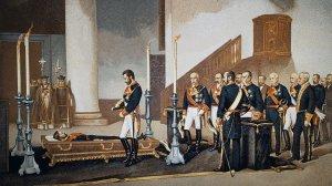 Amadeu de Savoia al funeral del general Prim, un il·lustre reusenc.