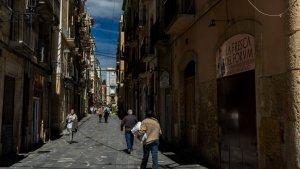 Carrer de la Merceria a la part alta Tarragona