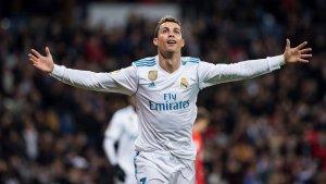 Cristiano Ronaldo celebra un gol contra la Reial.
