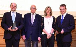 Daniel López Serrano, Josep Oliu, Carmela Fortuny i Rubén Martín