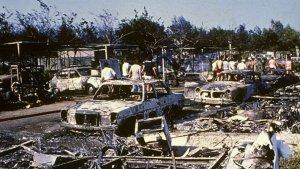 El càmping Alfacs va quedar totalment arrassat per l'explosió.