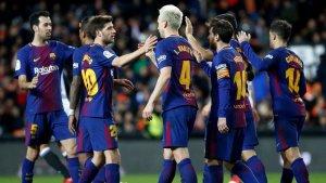 El F.C. Barcelona es classifica per la final de la Copa del Rei 2018