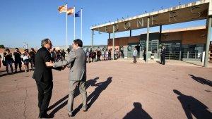El president Quim Torra a la seva arribada al centre penitenciari de Lledoners