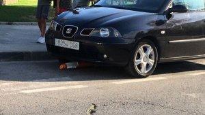 El vehicle del conductor que ha comès el delicte.