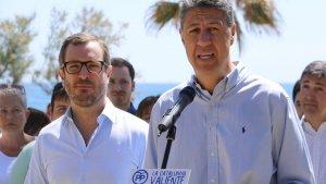 El vicepresident del PP, Javier Maroto, i el líder del PP a Catalunya, Xavier García Albiol.