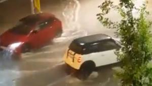 El xàfec d'anit va causar inundacions a Manlleu