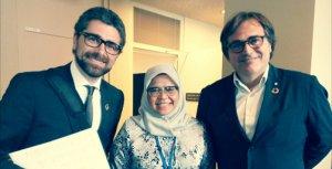 Els representants catalans a Nova York amb la directora executiva d'UN-Habitat, Maimunah Mohd Sharif