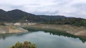 Estat actual del pantà de Siurana que es troba en sequera