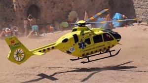 Helicòpter del SEM aterrant