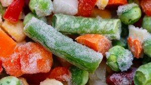 Imagen de archivo de verduras congeladas.