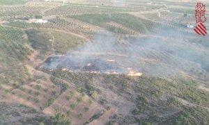 Imatge aèria del foc