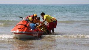 Imatge d'arxiu d'un rescat a la platja.