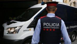 Imatge del furgó dels Mossos que traslladava Jordi Magentí als jutjats.