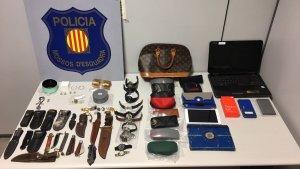 Imatge del material intervingut pels Mossos d'Esquadra
