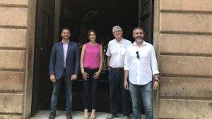 Imatge dels representants del grup taronja que han estat a Tarragona