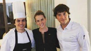 Jordi Cruz amb Sofía i Víctor
