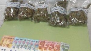 La droga i els diners que va intervenir la Policia Local de Cunit