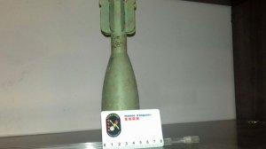 L'artefacte explosiu que avui ha trobat el veí.