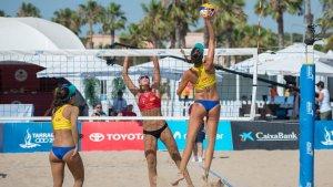 Les millors imatges del vòlei platja dels Jocs Mediterranis