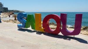 Les noves lletres de Salou a la zona dels Pilons
