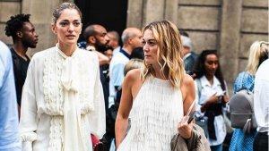 Marta Ortega con el vestido de flecos de Zara