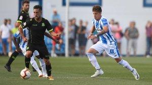 Mejías, en un partit entre el Leganés i l'Alcorcón