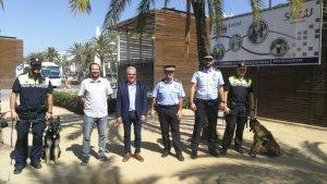 Presentació de la Unitat Canina de la Policia Local de Salou