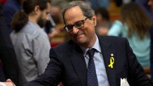 Quim Torra, al Parlament de Catalunya