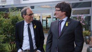Quim Torra i Carles Puigdemont, durant la seva trobada a Berlín