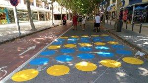 Salou ha fet un treballs de millora de la senyalització de dos carrers per a vianants