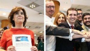 Soraya Sáenz de Santamaría y Pablo Casado pugnarán por liderar el Partido Popular