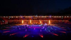 Un dels espectacles durant la clausura dels Jocs
