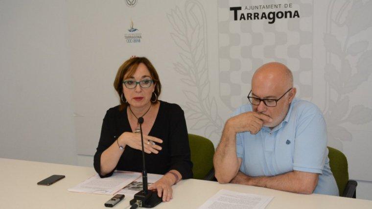 Begoña Floria i Carles Figuerola han dirigit la roda de premsa