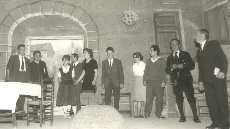 Imatge de la representació de 'L'Hostal de la Glòria' el 1966.