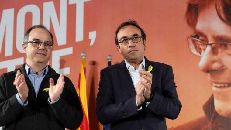 Jordi Turull i Josep Rull, tots dos empresonats fa uns mesos a Estremera