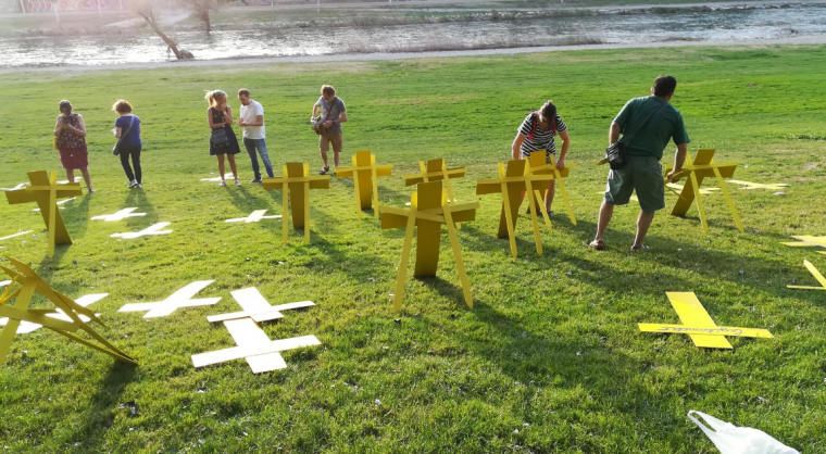 Les creus grogues al riu Segre