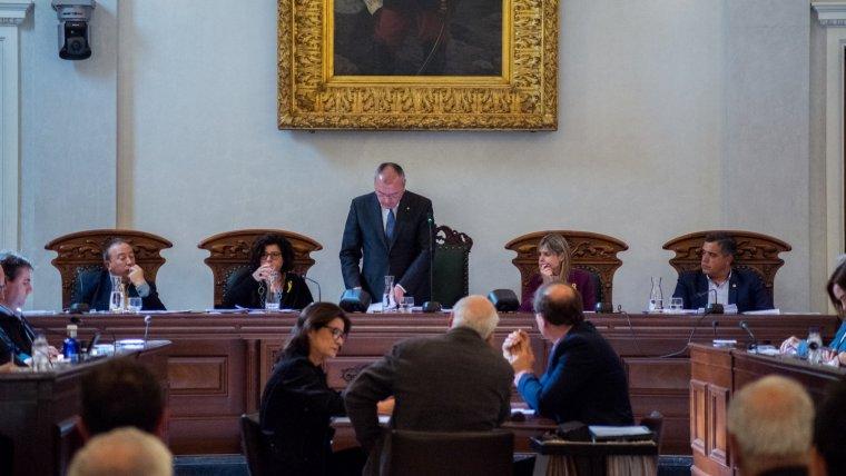 Part del govern de Reus al plenari en una imatge d'arxiu