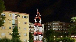 4de8 de la Colla Vella dels Xiquets de Valls a l'Hotel Calypso de Salou