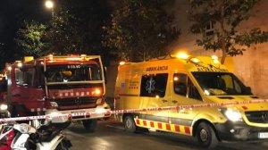 Ambulància i Bombers al lloc dels fets