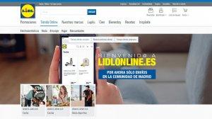 Captura de pantalla de la nueva tienda 'online' de Lidl