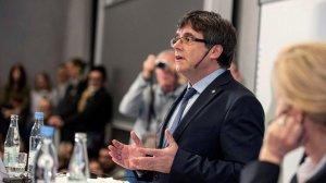 Carles Puigdemont en un acte oficial