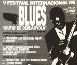 Cartell d'una edició anterior del Festival de Blues