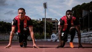 David Querol i Karim Yoda a la pista d'atletisme del CN Reus Ploms