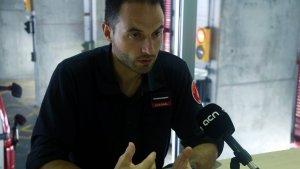 El caporal Sergi Martínez durant l'entrevista a ACN