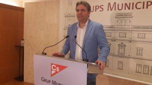 El portaveu de Ciutadans a l'Ajuntament de Reus, Juan Carlos Sánchez.