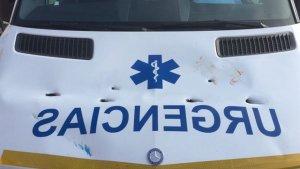 Estado en el que ha quedado la ambulancia.